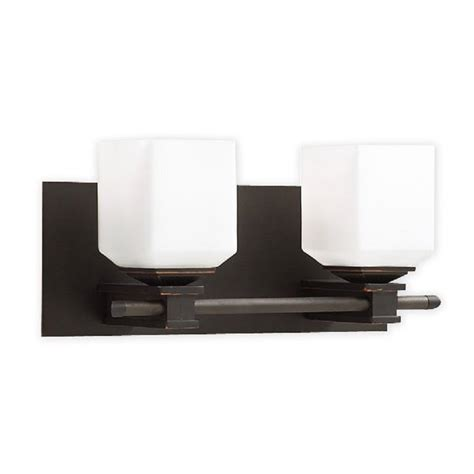 Bronze Bathroom Light Bar by Shop Plc Lighting 2 Light Modena Bar Rubbed Bronze