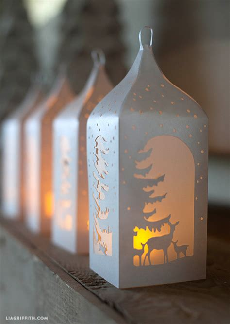 winter paper lanterns lia griffith