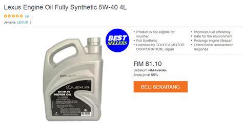 Minyak Enjin Toyota tawaran terbaik minyak enjin toyota fully synthetic
