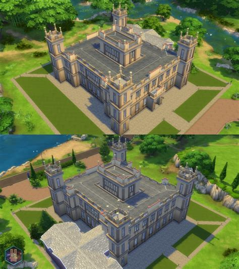House Plans With Lots Of Windows sims 4 downton abbey highclere castle