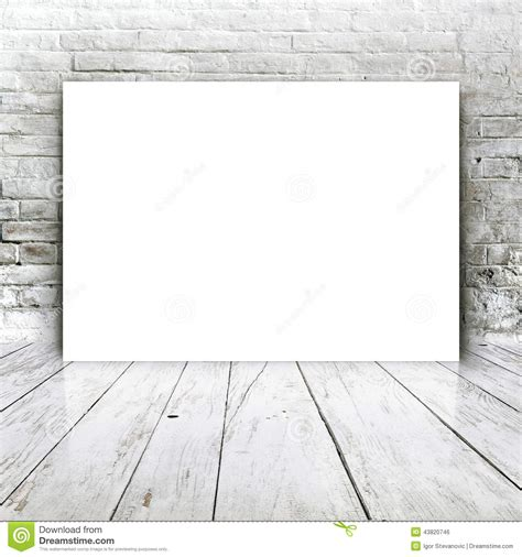 wall post template blank poster as copy space template for your design stock
