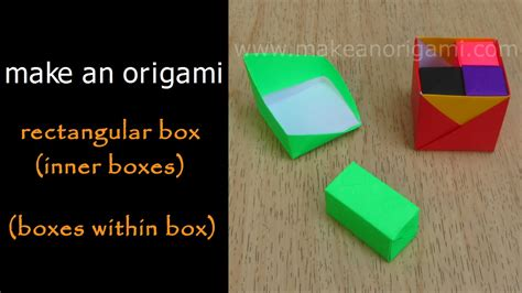 How To Make A Rectangular Box Out Of Paper - make an origami rectangle box inner boxes boxes