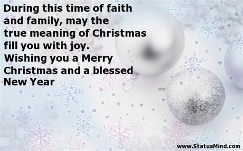new year true meaning during this time of faith and family may the true