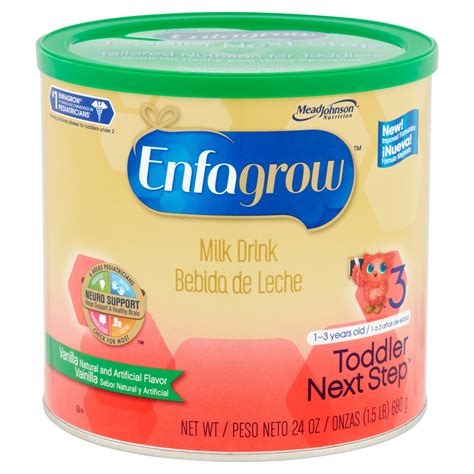 Enfagrow A 3 Vanilla enfagrow toddler next step milk drink vanilla flavor 24 oz powder can go club