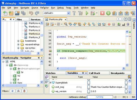 php tutorial on netbeans netbean ide for java