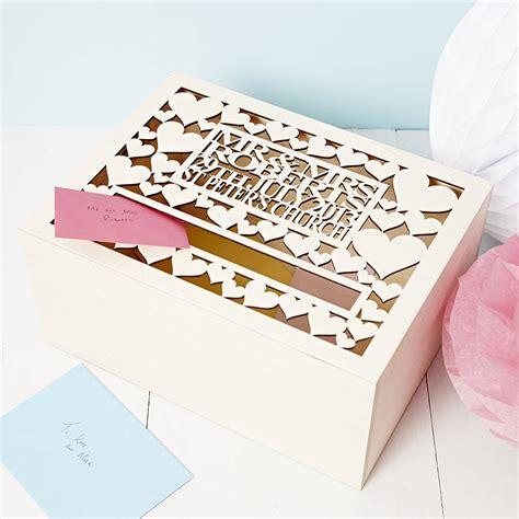 Wedding Box by Personalised Wedding Post Box By