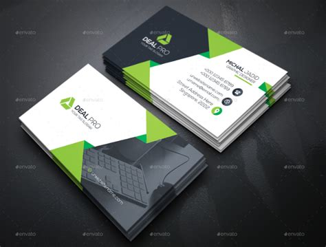 business card template creative 18 information technology business cards free psd ai