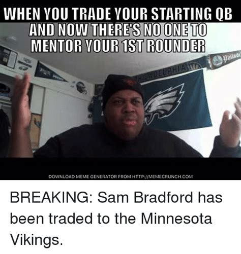 Sam Bradford Memes - funny minnesota vikings memes of 2016 on sizzle san
