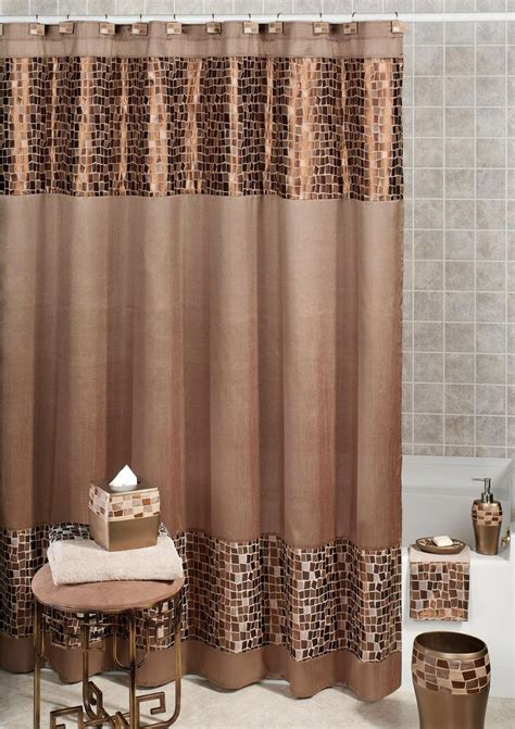 Bathroom Accessory Sets With Shower Curtain Shower Curtains Bathroom Sets Curtain Menzilperde Net