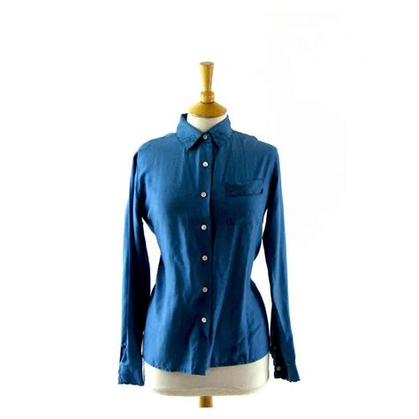 light blue silk top light blue silk blouse blue 17 vintage fashion