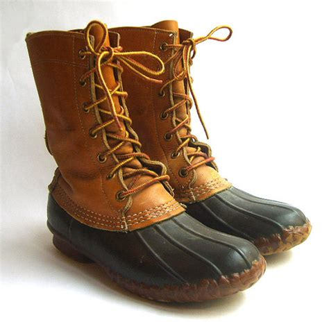 ll bean womans boots womens vintage ll bean leather duck boots size by