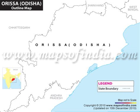 Odisha Map Outline by Orissa Outline Map Blank Map Of Orissa