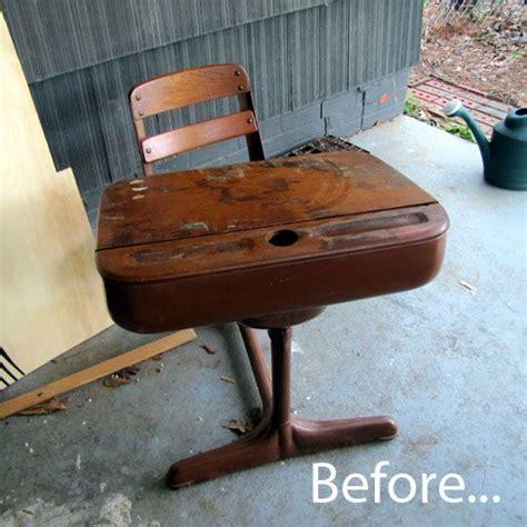 Refinishing School Desk by Vintage Desk School Refinish School Desk