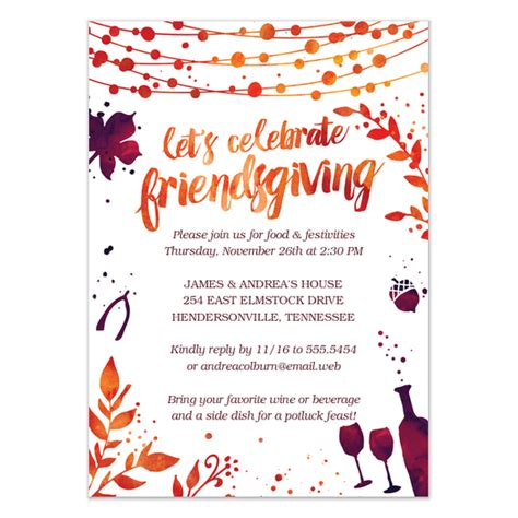 Friendsgiving Thanksgiving Dinner Invitation Invitations Cards On Pingg Com Friendsgiving Invitation Free Template