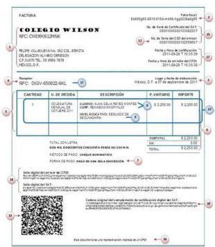 requisitos de deduccin de comprobantes del extranjero comprobante fiscal digital por internet cfdi de colegiaturas