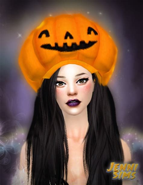 The Sims 4 Custom Paint Wall jenni sims funny and silly hats halloween sims 4 downloads