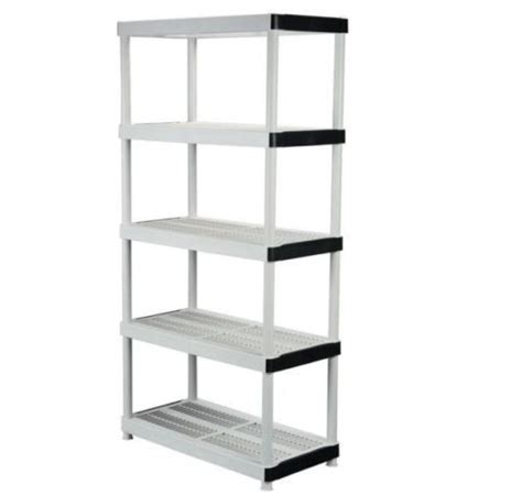 5 shelf plastic ventilated storage shelving unit heavy