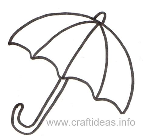 free printable umbrella template free craft patterns and templates umbrella template