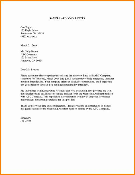 Apology Letter Of Being Late 8 How To Write A Apologize Letter Assembly Resume
