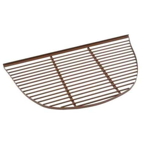 basement window covers home depot rockwell 42 in x 76 in half premier metal window well bar grate gp 6639 the home depot