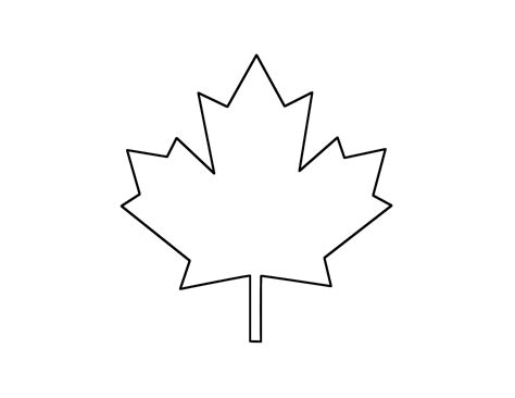 maple leaf printable template canadian maple leaf cliparts co