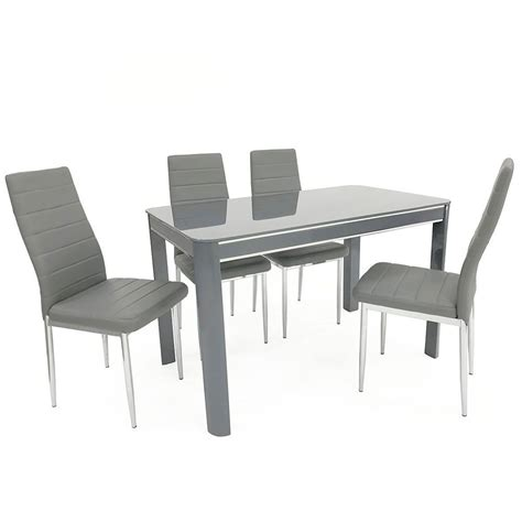 grey dining table and chairs morano grey dining table 4 chairs