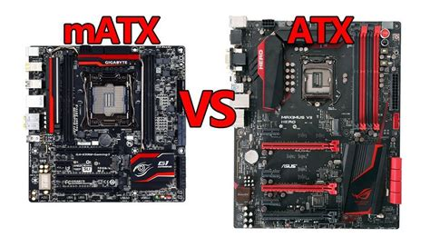 mini atx matx vs atx motherboard what should you use for your