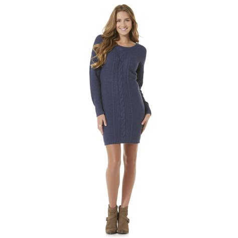 cable knit sweater juniors joe boxer junior s cable knit sweater dress
