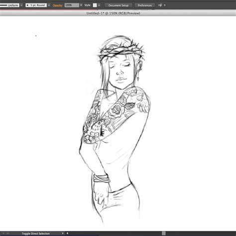 tattoo template creator create a punk queen of hearts with a sleeve tattoo in
