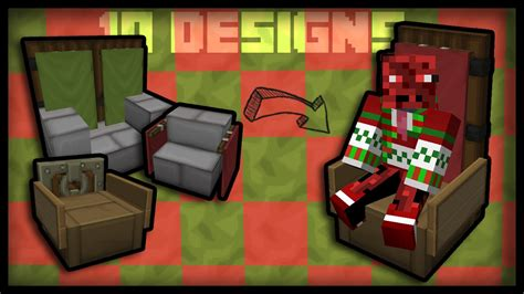 How To Make A Working Chair In Minecraft by Minecraft How To Make Working Chairs 10 Chair Designs