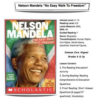 nelson mandela biography in simple english nelson mandela quot no easy walk to freedom quot lesson plan