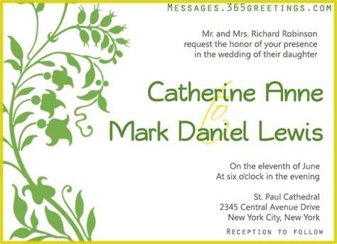 wedding invitation of message wedding invitation wording 365greetings