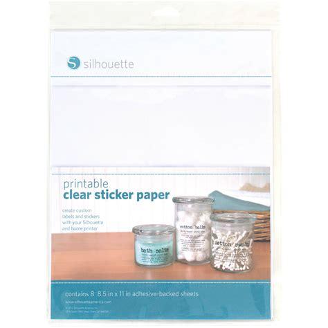 printable clear sticker paper manila silhouette printable clear sticker paper media clr adh b h
