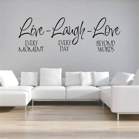 live laugh stickers for wall live laugh wall sticker by mirrorin notonthehighstreet