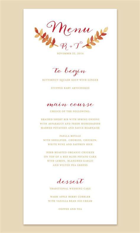 best 25 fall wedding menu ideas on pinterest wedding