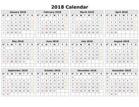 Calendar 2018 Layout Printable Calendar 2018 Printable Calendar Templates