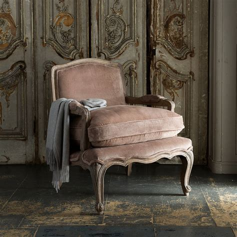 rochelle french armchair mink velvet rochelle french armchair by within home