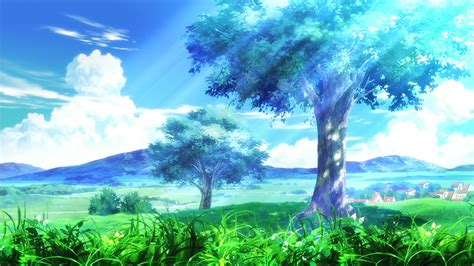 wallpaper hd anime landscape cool anime trees fresh art hd wallpaper 5710 hd