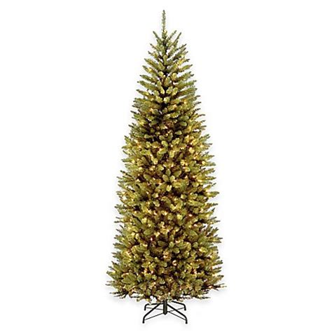 national tree 7 5 foot kingswood fir pre lit hinged slim