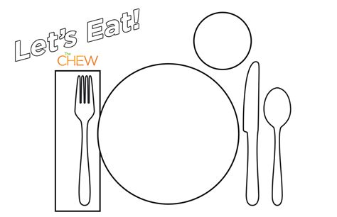 set template table place setting coloring page coloring pages