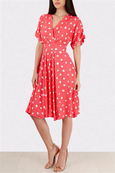 Dress Anak Polka Pink pink polka dress from glasgow by pink poodle shoptiques