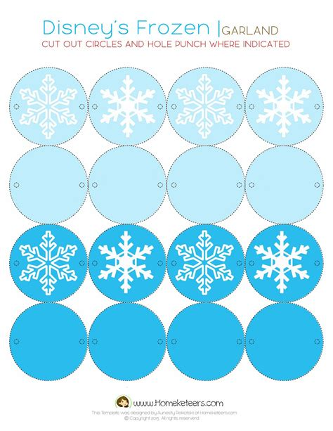 Printable Frozen Garland | frozen party free printables oh my fiesta in english
