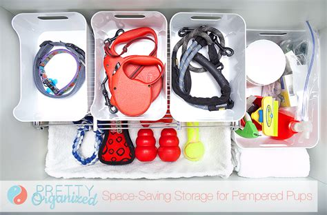 puppy items small space storage organizing supplies how to organize