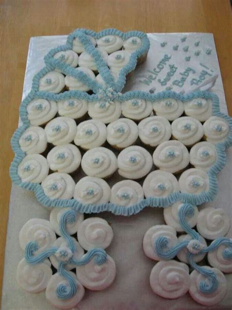 baby buggy cupcake cake baby shower baby boy porter