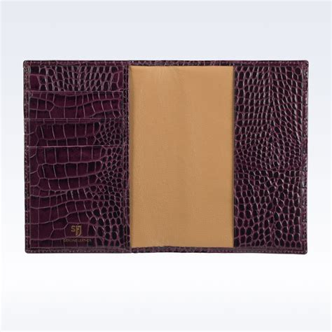 Passport Holder Mirror Quality Limited purple croc leather travel passport wallet passport holder travel stj leather
