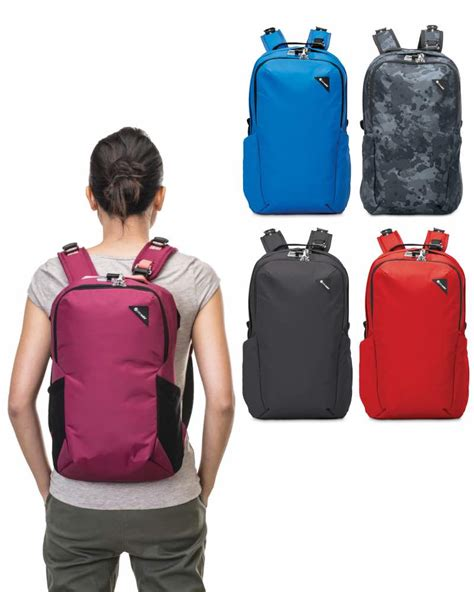 pacsafe vibe 25 anti theft 25l backpack by pacsafe vibe