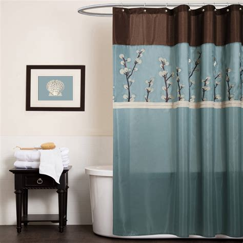 cocoa flower shower curtain yellow and brown shower curtain interior home design ideas