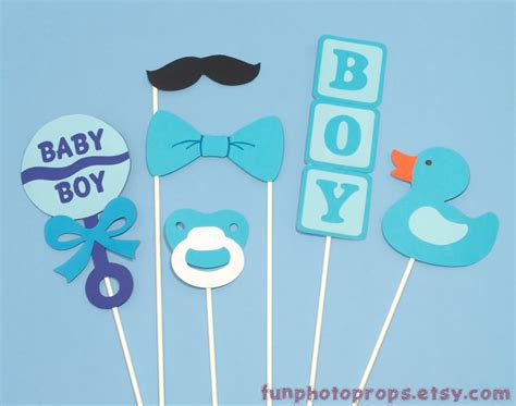 baby shower photo booth templates items similar to photo booth prop set 6 baby boy