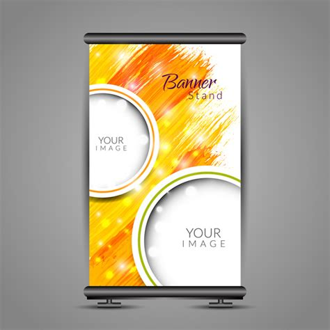 Bow Y Banner Type Frame 80 X 180 roll up banner design with vertical abstract background free vector in adobe illustrator ai