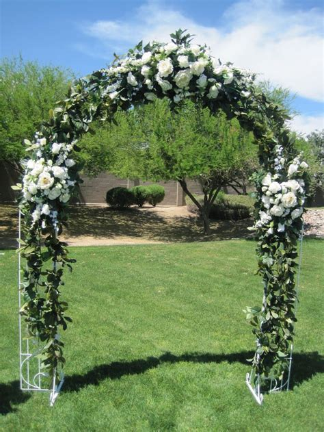 pictures wedding arches   White wrought iron arch